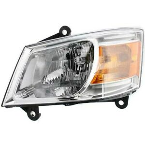 Headlight For 2008 2010 Dodge Grand Caravan Driver Side W Bulb