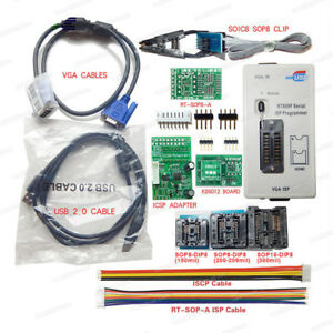 Rt809f Programmer 8 Adapters Sop8 Ic Clip Motherboard Lcd Reader