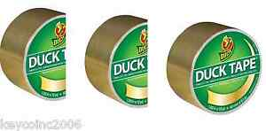 3 Rolls Gold Colored Duct Tape By Duck Brand