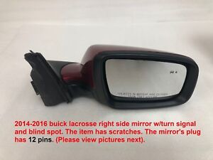 2014 2016 Buick Lacrosse Right Side Mirror W Signal And Blind Spot 23426305