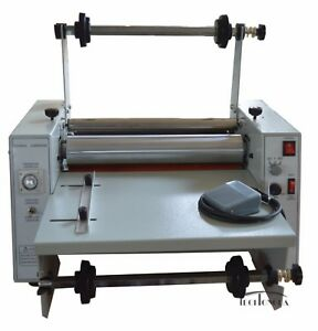15 All Steel Roller Thermal cold Laminator 110v Single dual Sided Laminating