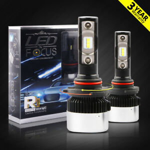 90w 11000lm Led Headlight Kit Cob 9006 Hb4 6000k Xenon White Low Beam Bulbs