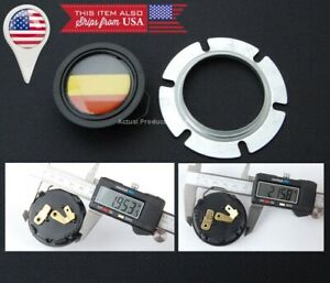 German Flag Horn Button For Momo Sparco Grant Quanties Steering Wheel 2 Hole