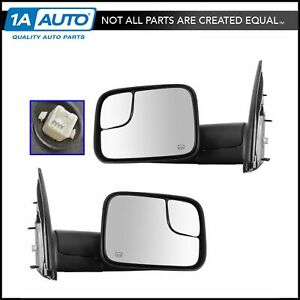 Oem 82207298 Power Heater Flip Up Style Tow Mirrors Pair For Dodge Ram Pickup