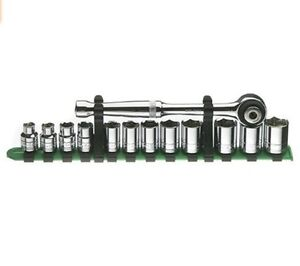 8 19mm 3 8 Drive Socket Set With Ratchet Sk 91823