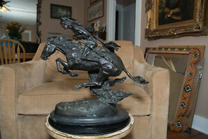 1950s Frederic Remington Cheyenne Bronze Sculpture 19 Reproduction