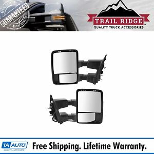 Trail Ridge Tow Mirror Upgrade Power Folding Heated Signal Chrome Pair For Ford