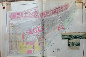 1918 West Philadelphia Armory Stock Yards G W Bromley Reproduction Atlas Map