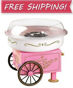 New Nostalgia Pcm305 Vintage Collection Hard And Sugar Free Cotton Candy Maker