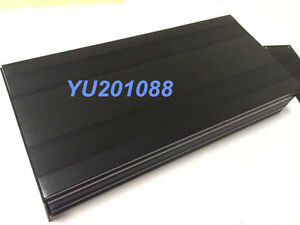 Black Diy Metal Aluminum Project Box Enclosure Electronic Case 300x145x54mm