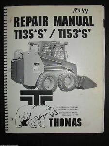 Thomas Skid Steer Loader Service Repair Manual T135s T153s Series 44290 1