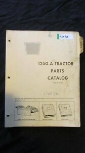 Oliver 1250a Tractor Parts Manual Book Catalog