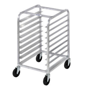 Channel Bun Pan Rack Aluminum front Loading Under Counter Half Height