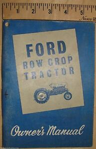 Ford Operators Manual 2000 4000 Row Crop Diesel Gas Tractor Se8740 1962