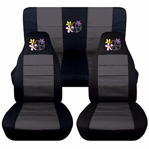 Flower Power Seat Covers Fit 1998 2004 Volkswagen Beetle 12 Color Options