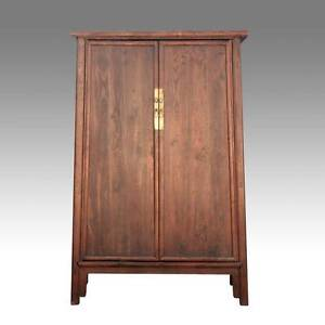 Fine Antique Chinese Shanxi Elm Wood Cabinet Wardrobe Furniture Early 19th C