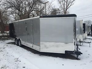 New 8 5 X 29 Enclosed Combo Trailer Snowmobile Car Hauler Loaded