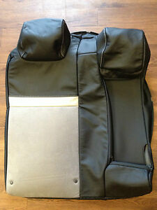 2012 Toyota Camry Factory Original Seat Cover Rear Upper black Leather suede