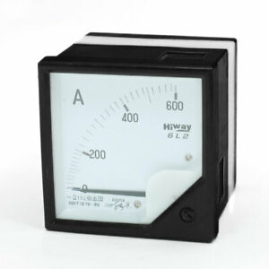 Ac 0 600a Class 1 5 Analog Ampere Panel Meter Gauge 6l2