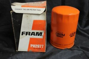 Vintage Nos Fram Oil Filter Ph 2977 Chevrolet Gm 94217272 Isuzu I Mark