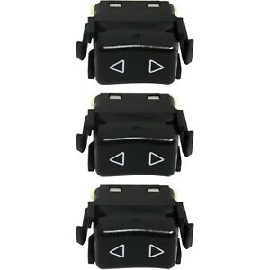 Window Switch For 86 91 Porsche 944 1 Button Set Of 3 Front Left Right Side