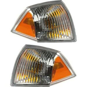 Front Marker Signal Blinker Corner Parking Light Pair Set For 07 10 Jeep Compass