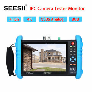 4k Ipc Camera Cctv Tester Monitor Cvbs Audio Analog Poe Test 7 Touch Screen