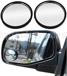 2pc 2 Universal Wide Angle Convex Blind Spot Rear Side View Mirrors Car Truck