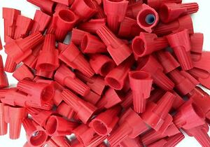 3000 Pc Red Winged Screw on Nut P13 Wire Connectors Twist on Bag 8 18 Awg