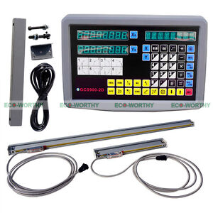 2 Axis Digital Display Readout Dro 2 Linear Scale Travel Mill Milling Machine