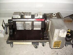 Yuasa Sudx 8 Chick Vise Tombstone With 4th Axis Cnc Rotary Table Sub System
