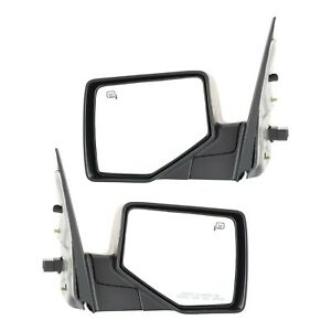 Mirror Set Of 2 For 2006 2010 Ford Explorer Heated With Puddle Light Black