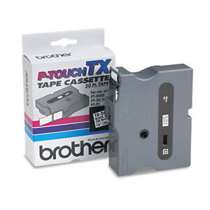 Brother P touch Tx Tape Cartridge 3 4w Black On White Brttx2411