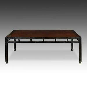 Antique Chinese Qing Dining Room Table Elm Wood Furniture Shanxi China 19th C