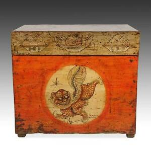 Antique Chinese Qing Opera Podium Table Elm Wood Furniture Hebei China 19th C