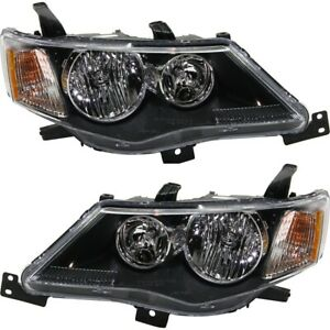 Headlight Set For 2007 2009 Mitsubishi Outlander Left And Right With Bulb 2pc
