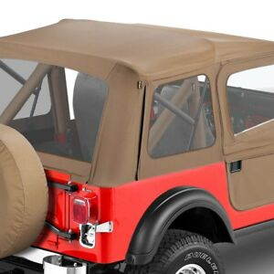 For Jeep Cj5 76 83 Bestop 51597 04 Supertop Tan Complete Replacement Soft Top