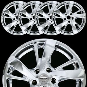 4 New 13 17 Nissan Altima 17 Chrome Wheel Skins Hub Caps Full Alloy Rim Covers