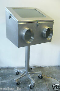 Mobile Stainless Steel Glove Box Isolator Environmental Isolation Chamber