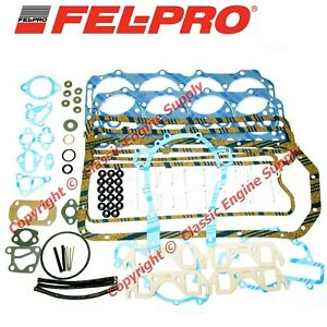 New Fel Pro Engine Overhaul Gasket Set Fits Some Buick 364 400 401 425 Engines