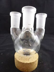 Quark Glass 250ml Vertical 4 neck Round Bottom Boiling Flask 24 40 Joints