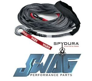 Warn Spydura Synthetic Winch Rope Cable 3 8 X 100 Jeep Wrangler Truck Suv
