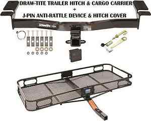 2007 2014 Ford Edge Trailer Hitch Cargo Basket Carrier Silent Pin Lock Tow