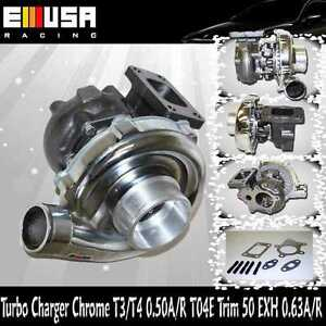 T3 T4 Chrome Turbo Charger 50 A R T04e T3 T4 Stage 3 Rsx K20 Rb25 Miata Hp 450