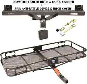 2007 2016 Audi Q7 Trailer Hitch Cargo Basket Carrier Silent Pin Lock Tow New