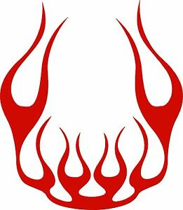 Flame Hood Decal Car Truck Boat Suv Multiple Colors Usa 23 X20 Free Ship