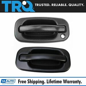 Trq Door Handle Outside Exterior Textured Front Pair For Chevy Gmc Tahoe Yukon