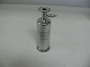 Sartorius Stainless Steel Filter Housing Part Hu10s6ix00r0s 150 Psi 300f