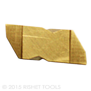 Rishet Tools Ng 3125r C5 Tin Coated Notched Grooving Carbide Inserts 10 Pcs