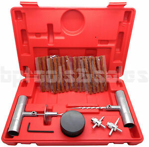 27pc Tire Repair Kit Diy Flat Tire Repair Car Truck Motorcycle Home Plug Patch